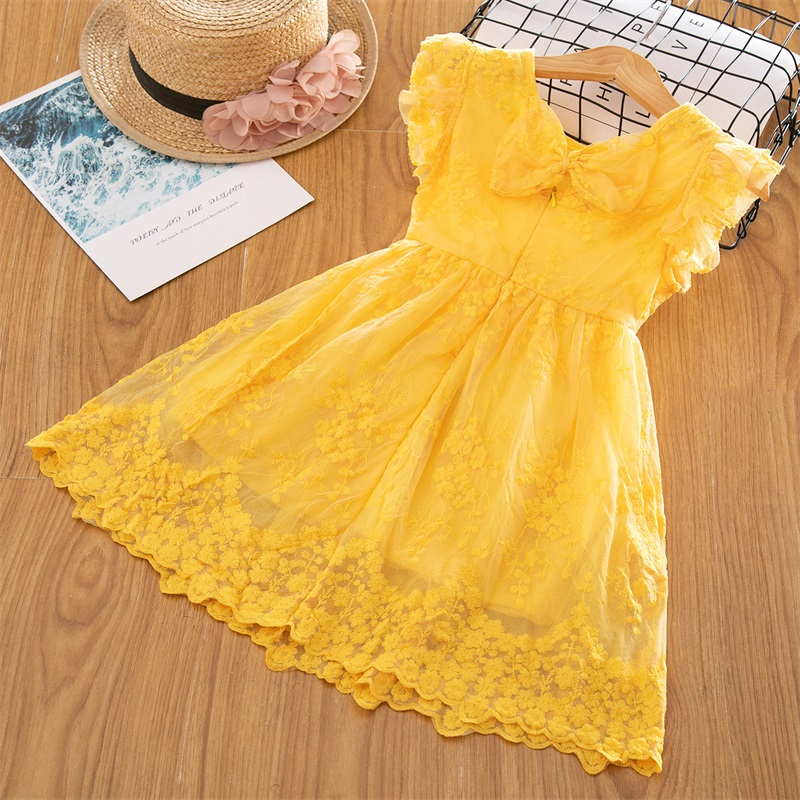 H9401a7fba49c4009a6b7cffb95e473f23 Girls Dress 2019 New Summer Brand Girls Clothes Lace And Ball Design Baby Girls Dress Party Dress For 3-8 Years Infant Dresses