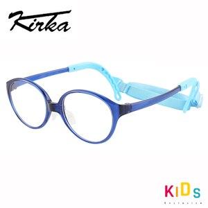 Image 1 - Kirka crianças óculos quadro flexível roxo cor óculos de olho moda crianças quadros para meninas óculos ópticos
