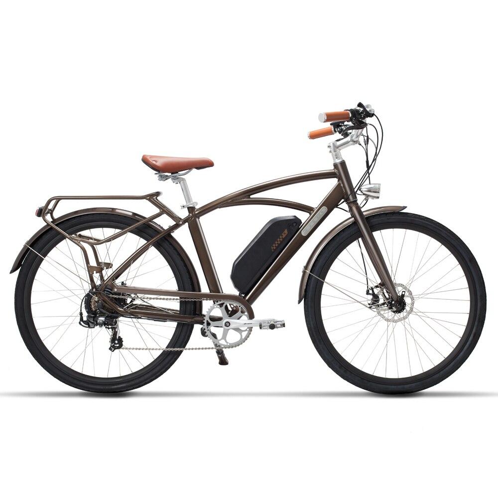 Vélo électrique 48V500W haute vitesse moteur électrique vélo de route rétro ebike léger cadre confortable selle route