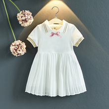 Gooporson Summer School Kids Dresses for Girls Bow Fashion Little Girls Costume Vestidos