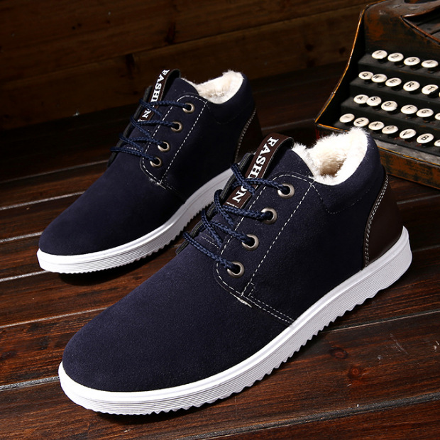 New Men Winter Shoes Solid Color Snow Boots Plush Inside Antiskid Bottom Keep Warm Waterproof Winter Boots Men Tyh6