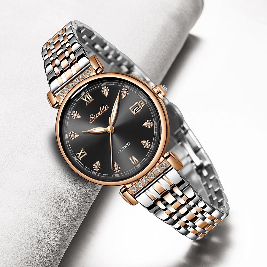 LIGE Brand SUNKTA Fashion Women Watch Business Quartz Watch Ladies Top Brand Luxury Female WristWatch Girl Clock Relogio Feminin