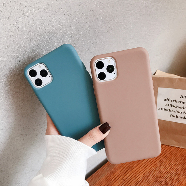 For iPhone case 11 Pro Max 6 6s 7 8 Plus X Xs Max Cover Luxury Original Soft TPU Cover Accessories Bag Layers Shell Fitted Cases 3
