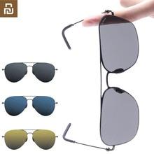 Youpin TS 브랜드 선글래스 나일론 편광 된 스테인리스 태양 렌즈 Glasse 스마트 레트로 자외선 방지 야외 여행 남자 여자 H20