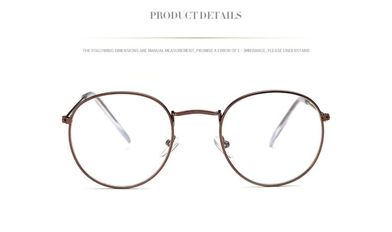 Fashion glasses frame Classic Round Women's Metal frame Optical Glasses Computer blue light Glasses oval eyeglasses frame Retro (6)
