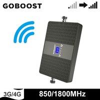 GOBOOST 850 1800 MHz 듀얼 밴드 신호 부스터 3g 4g 리피터 셀룰러 모바일 네트워크 신호 증폭기 대역 3 대역 5