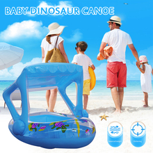 Baby Swim Ring Inflatable Toddler Float Kid Swimming Pool Water Seat with Canopy