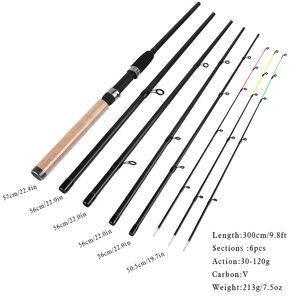 Image 2 - Sougayilang חדש למעלה איכות מזין חכת דיג 6 סעיפים חכת דיג L M H כוח סיבי פחמן נסיעות מוט קרס דיג