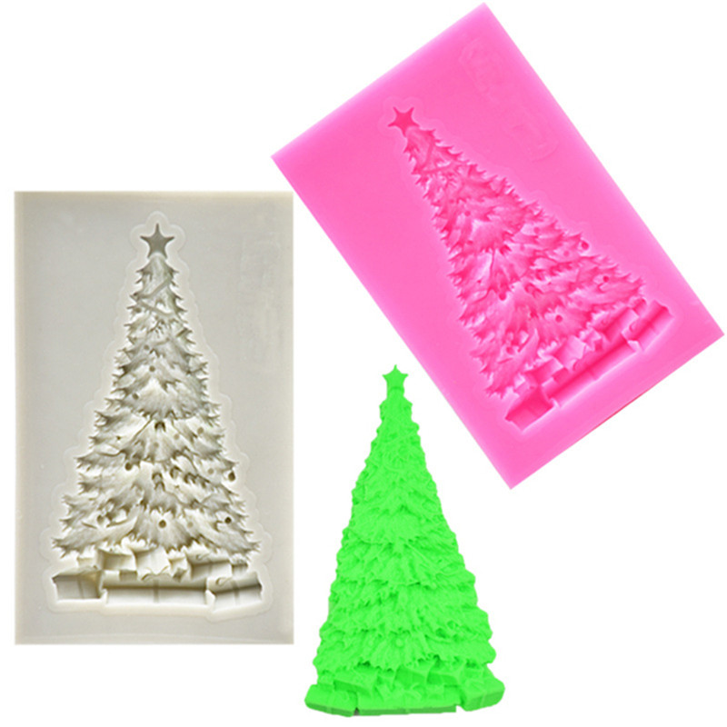 Christmas Tree Shape Silicone Mold Fondant Mold Cake Decorating Tools Chocolate Mold Pastry Tools Bakeware Kitchen Baking Tool