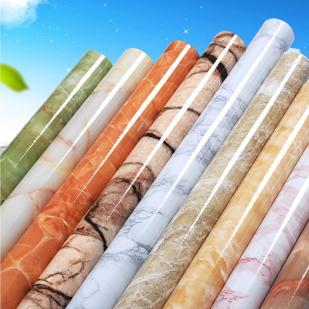 Thick Waterproof Pvc Imitation Marble Pattern Stickers Wallpaper Self-adhesive Wallpaper Renovation Of Furniture