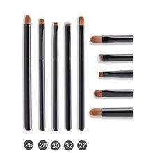 OVW – Kit de cosmétiques professionnels en poils de chèvre naturels, ensemble de pinceaux de maquillage pour les yeux, manche en bois noir, poils naturels
