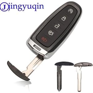 Image 1 - Jingyuqin 5 Tasten Fernbedienung Auto Schlüssel Fall Abdeckung Fob Für Ford Explorer Edge Escape Flex Taurus 2011 2012 2013 2014 2015 Smart Auto