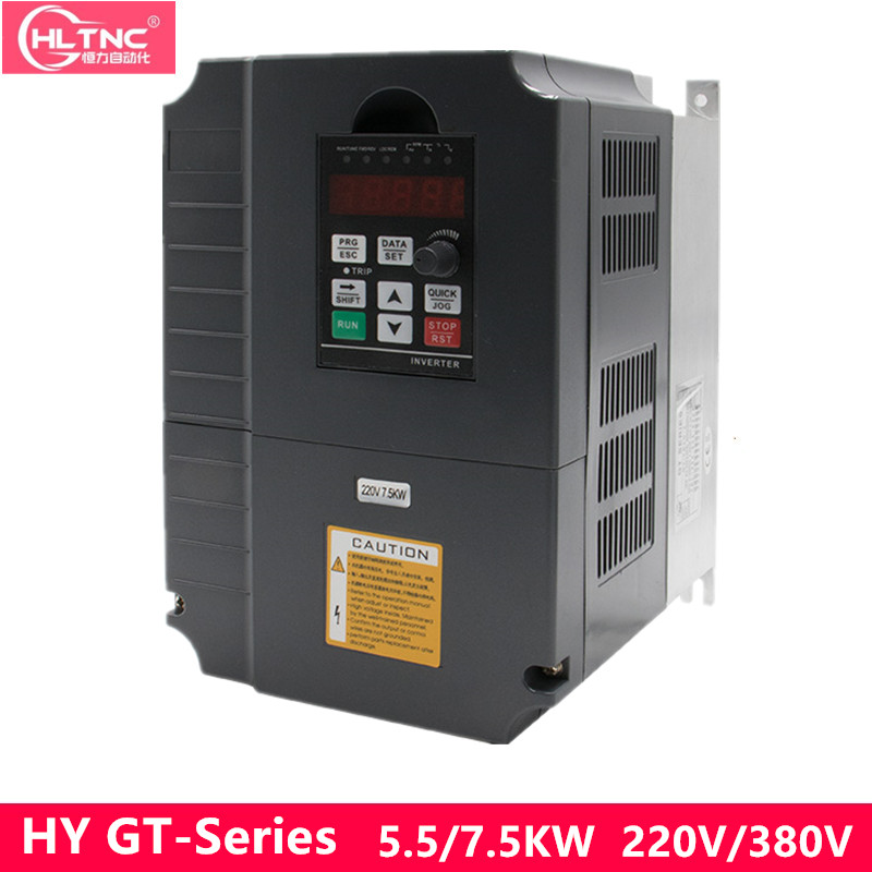 5.5KW/7.5KW однофазный инвертор Выход 3-фазный частотно-регулируемым приводом преобразователь частоты Регулируемый Скорость 220VAC 50 Гц