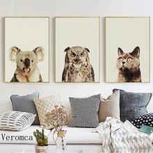 3 предмета милые Настенные рисунки с животными nordic Стиль