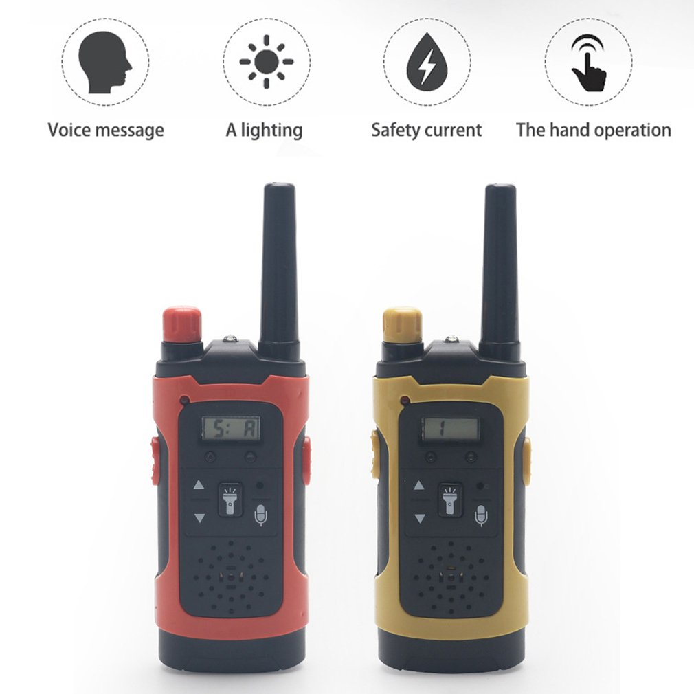 Mini 80-100M Kids Walkie Talkies Toy Child Electronic Radio Voice Interphone Toy Outdoor LCD Display Walkie Talkies Toy