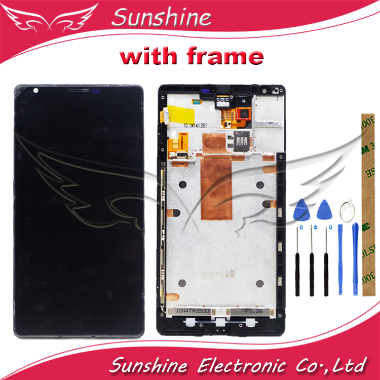 LCD For Nokia Lumia 1520 RM 937 RM 940 LCD Display With Touch Screen Sensor Complete Assembly With Frame
