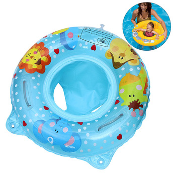 Double Handle Safety Inflatable Infant Kids Swimming Pool Rings Baby Seat Float Swim Ring Water Toys Swim Circle for Kids
