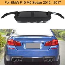Карбоновый Автомобильный задний бампер диффузор спойлер для BMW F10 M5 Sedan 2012- три стиля заднего бампера Диффузор