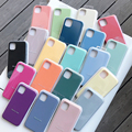 With Box Original Official Silicon Case For iPhone 11 12 Pro Max XR XS X SE 2020 Case For iPhone 12 Mini 7 8 6 6S Plus Case