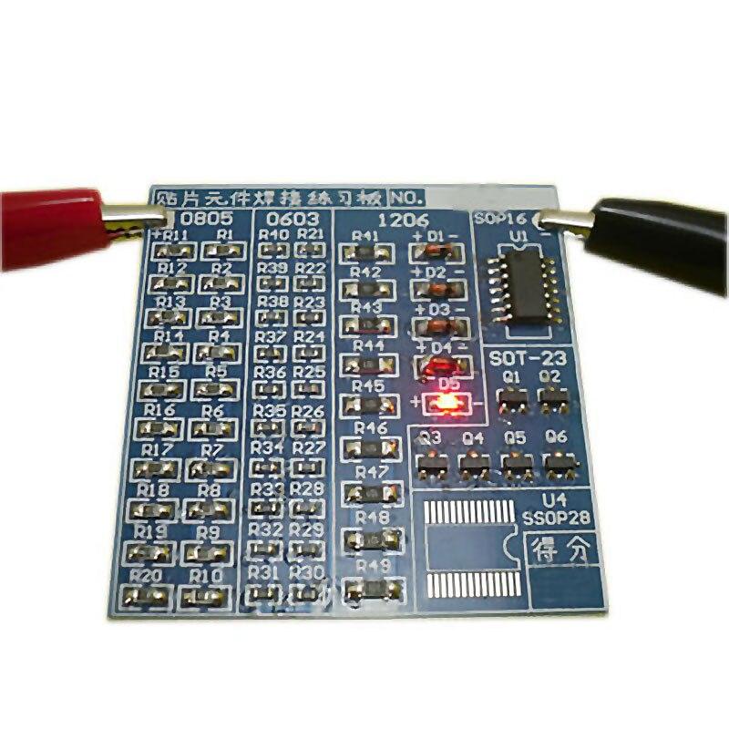 SMT SMD Component Weld Welding Practice PCB Board Solder Plate DIY Kit