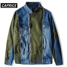 PatchworkZip Up Denim Jackets Hip Hop Hipster Punk Rock Denim Jeans Jacket Outwear Motorcycle Jacket Coat Streetwear men jacket цены