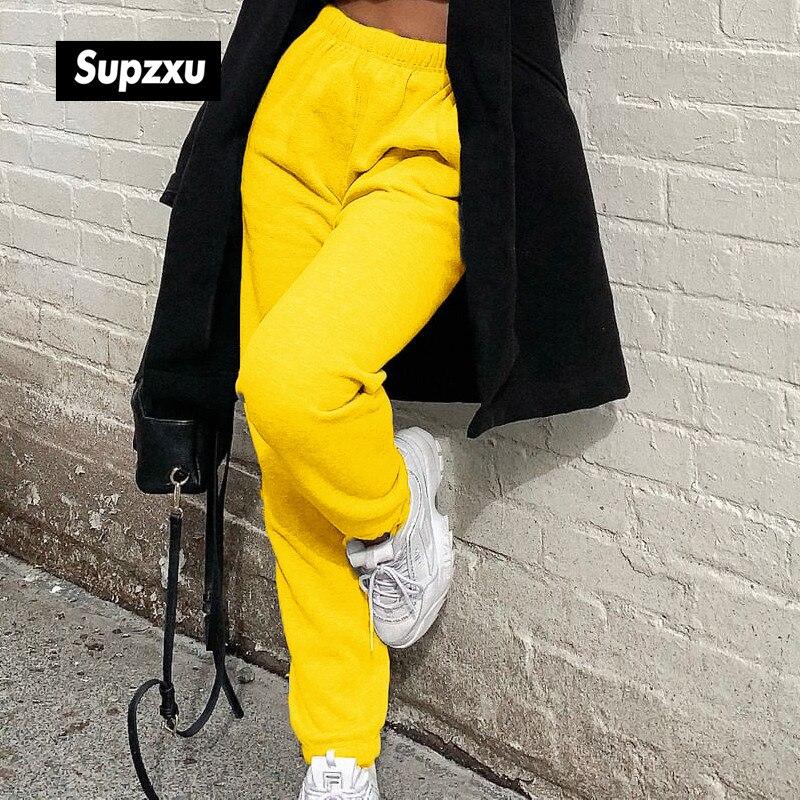 Nueva marca de moda para mujeres, pantalones de tiro alto, baile de Hip Hop, deporte, Running, Harem, pantalones de chándal, pantalones de chándal, pantalones holgados KAMUCC nueva plataforma señoras zapatillas transpirables mujeres Casual zapatos mujer moda altura aumento zapatos de talla grande 35-42