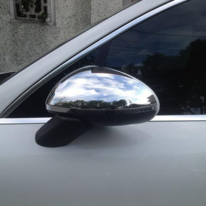 Image 5 - Side Wing Mirror Cover for Porsche Macan 2014 2015 2016 2017 2018 2019 2020 Chrome Trim Exterior Rearview Mirror Cap Cover