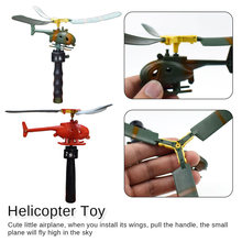 HOT New Kids Handle Pull The Plane Aviation Funny Toy Helicopter For Children Baby Play Gift Model Aircraft
