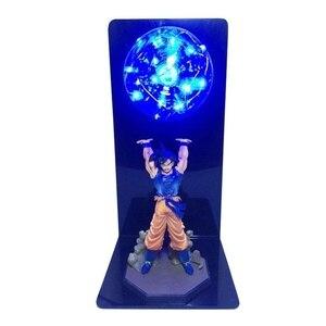 Image 5 - Actions Figure Dragon Ball Room Decorative Lamp Son Goku Super Saiyan Figures Led Light Goku Figure DBZ Led Bulb Table Light