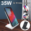 35W Qi Wireless Charger Stand For iPhone X XS MAX XR 11 Pro 8 Samsungs S20 S10 S9 Fast Charging Dock Station Phone Charger 1