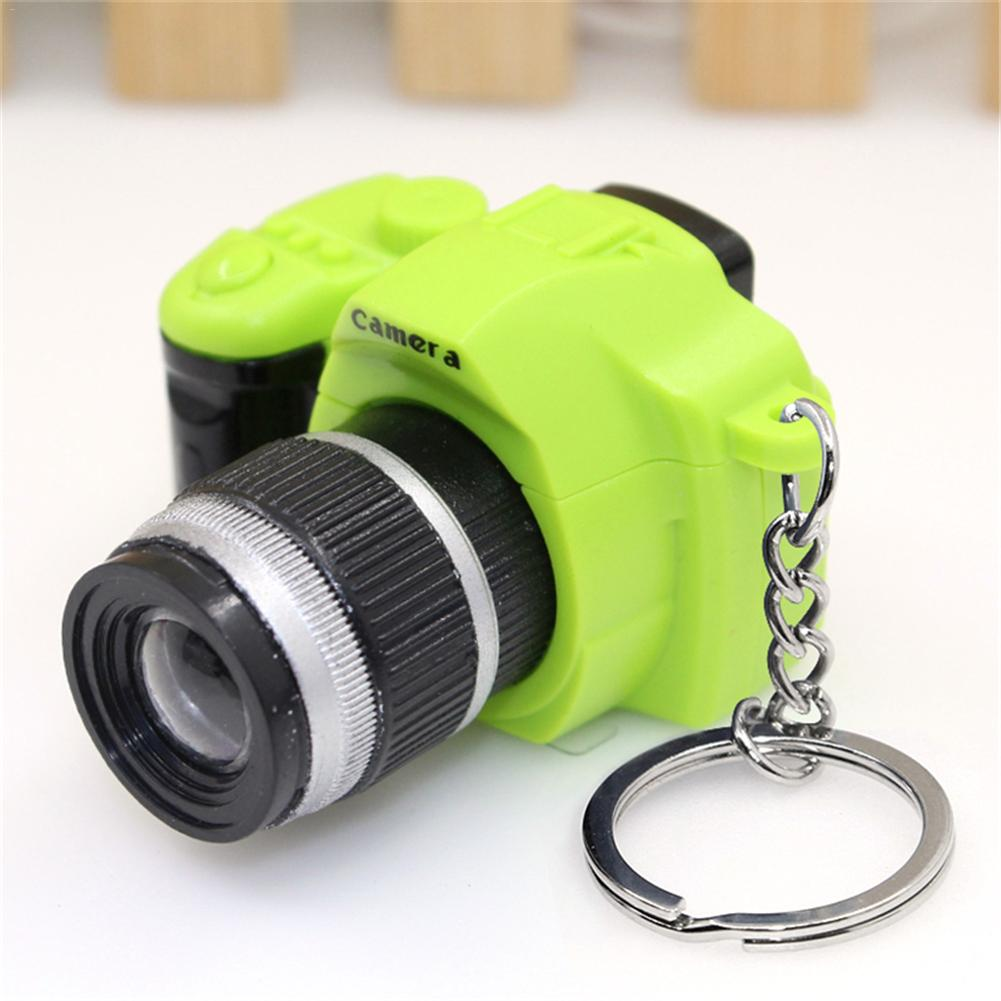 Cute Led Camera Flashing Toys For Kids Digital Camera Keychain Luminous Sound Flash Light Pendant Bag Accessories Children Toy