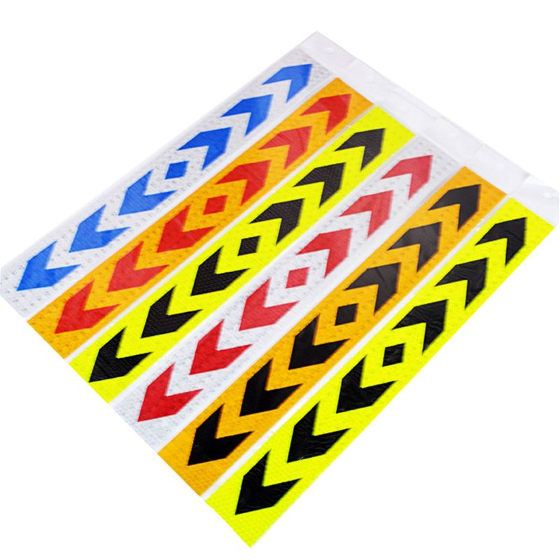 2 Pcs Reflective Safety Warning Signs Tape PP Stickers Strong Adhesive Waterproof High Visibility For Truck Car Motorcycles