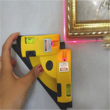 цена на Right Angle 90 Degree Vertical Horizontal Laser Line Projection Square Level Measurement Tool new