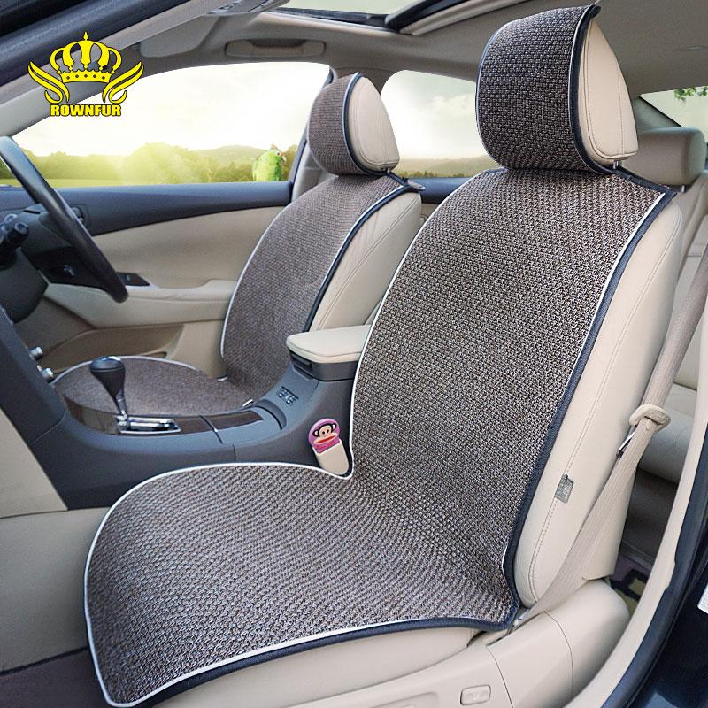 искусственный лён чехлы для автомобильных сидений, универсальные чехлы для передних сидений, всесезонные аксессуары для сидений, защитный ...