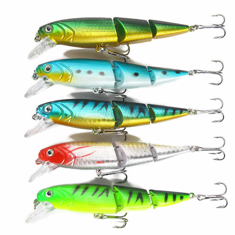 1PCS Jointedเหยื่อตกปลา 11 ซม./15G Minnowประดิษฐ์พลาสติกตกปลาwobblerเครื่องมือJerkปลาESCA Tackle