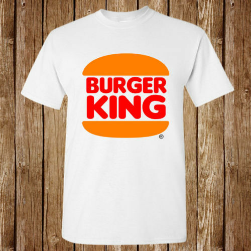 Burger King Hamburgers Logo White T-shirt S M L XL - 4XL 5XL