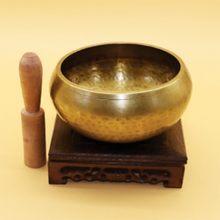 Instrumento de yoga cantando tigela sino meditação tibetano chakra yoga mão tigela budismo massagem meditação instrumento percussão