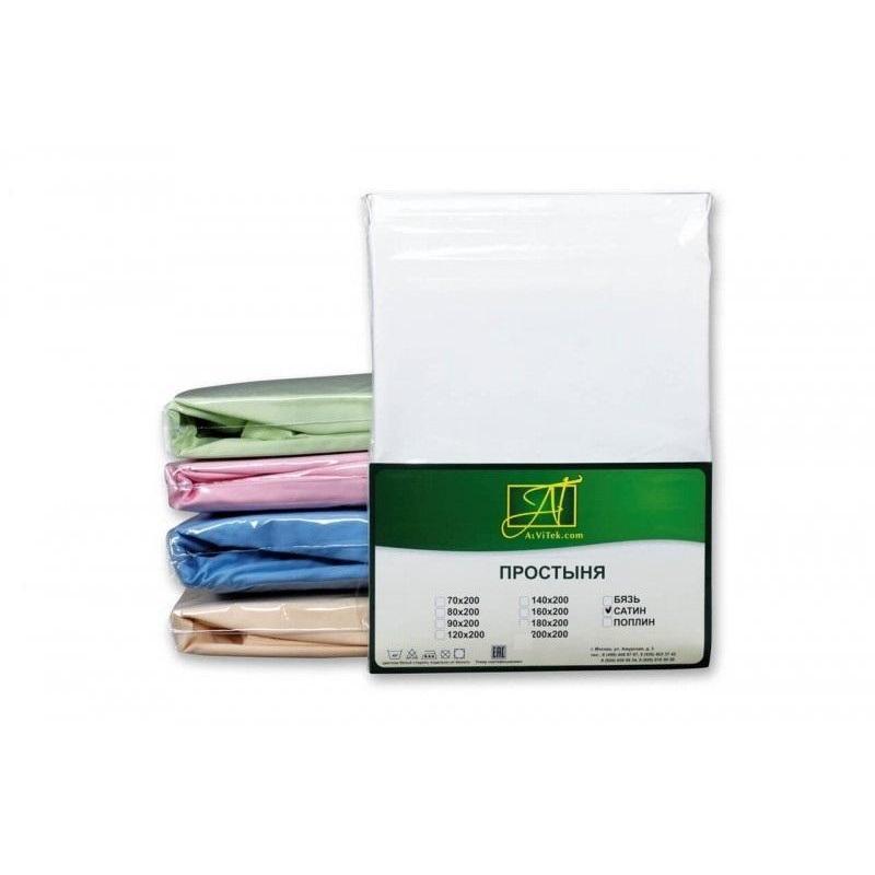 Фото - Bed Sheet АльВиТек, 220*260 cm, White bed sheet альвитек 150 214 cm white