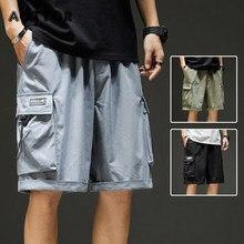 Streetwear été hommes Shorts décontracté côté-poche Cargo Shorts hommes 2021 nouveau Bermuda genou longueur hommes Hip Pop court pantalon 3XL
