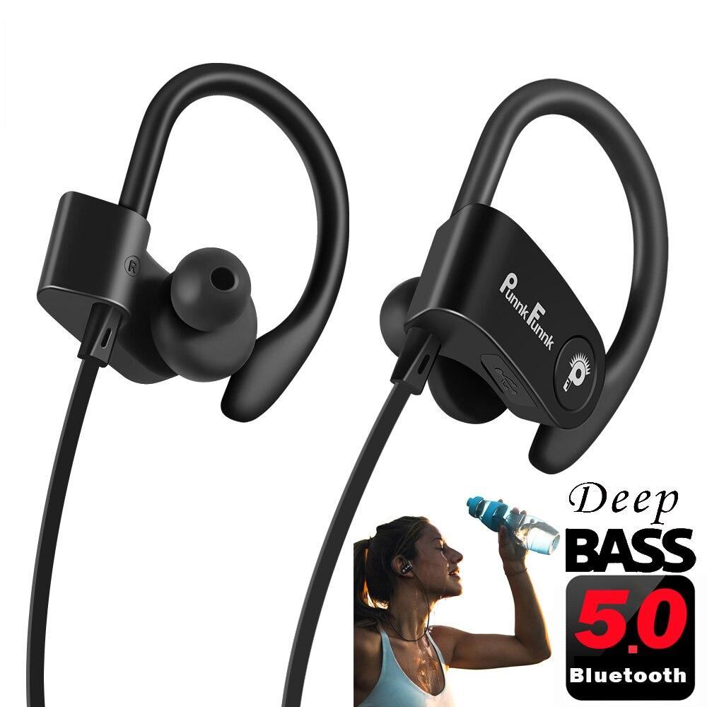 Bluetooth fone de ouvido sem fio bluetooth 5.0 esporte com cancelamento de ruído fones de estéreo graves profundos com microfone fone de ouvido