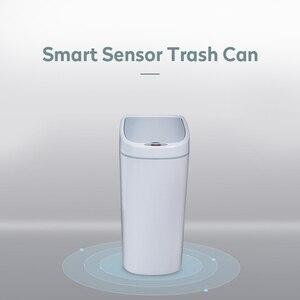 Image 2 - Cubo de basura de tipo estrecho de 10L, cubo de basura automático, sin contacto