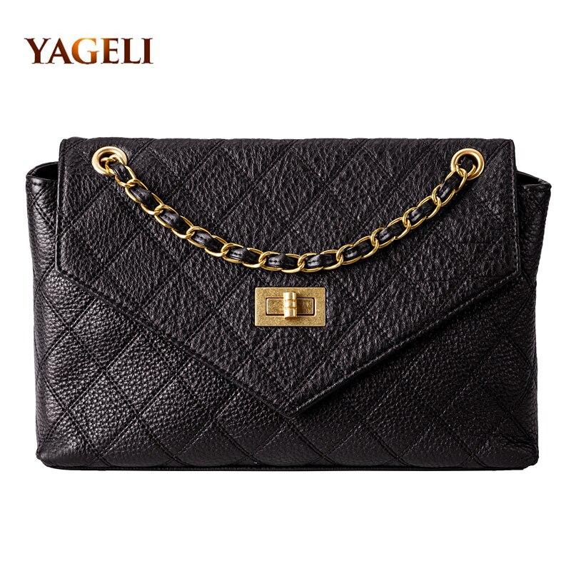 2019 INS HOT Genuine Leather Chain Shoulder Bags For Women Luxury Handbags Women Bags Designer Fashion Shoulder Messenger Bags