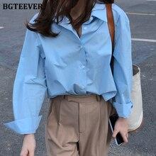 BGTEEVER Casual Loose Women Blouses Shirts Minimalist Single