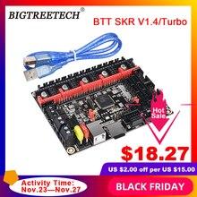 BIGTREETECH BTT SKR V1.4 BTT SKR V1.4 Turbo 32 Bit kontrol panosu yükseltme SKR V1.3 TMC2208 TMC2209 sürücü Ender3 3d yazıcı