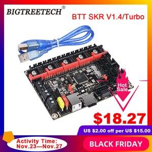 Image 1 - BIGTREETECH pilote pour imprimante 3d Ender3, carte de contrôle BTT SKR V1.4, vitesse 32 Bit, mise à niveau SKR V1.3, TMC2208, TMC2209