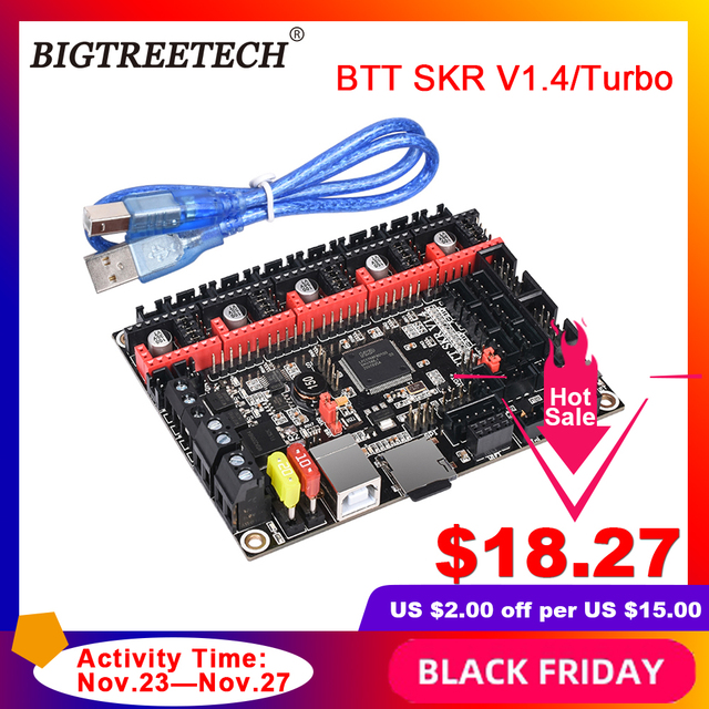 BIGTREETECH pilote pour imprimante 3d Ender3, carte de contrôle BTT SKR V1.4, vitesse 32 Bit, mise à niveau SKR V1.3, TMC2208, TMC2209