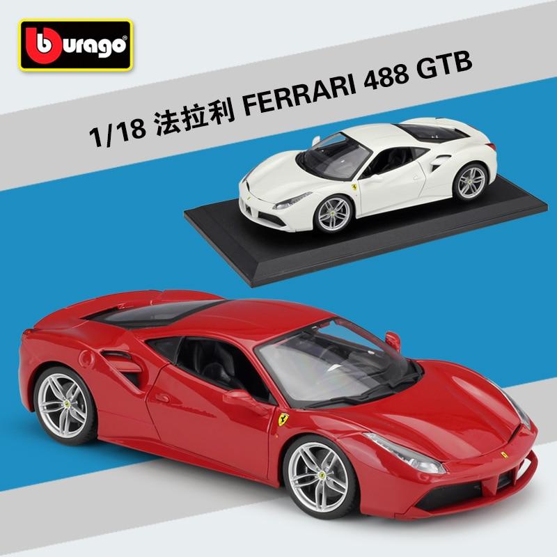 Bburago 1:18 FERRARI 488 GTB Simulation Alloy Car Model Collect Gifts Toy