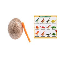 12Pcs/Set Dinosaur Eggs Toys Digging Fossils Excavation Dinosaur Toys For Kids Learning Educational Toys Gifts Random Color