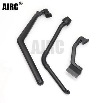Black ABS plastic exhaust pipe snorkeling wading pipe for 1/10 RC Crawler Car Traxxas TRX-4 Defender d90 scx10 90046 Accessories