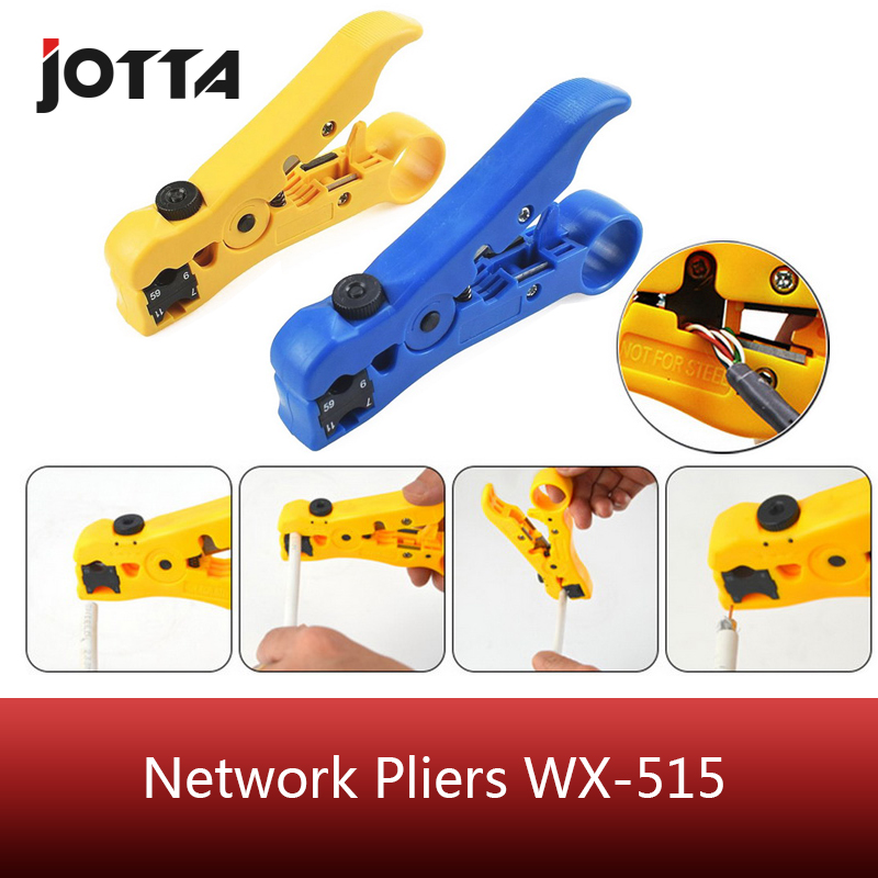 Automatic Stripping Pliers Universal Coaxial Cable Wire Stripper Wire Cable Tools Stripping Crimping Tool With Hexagon Wrench
